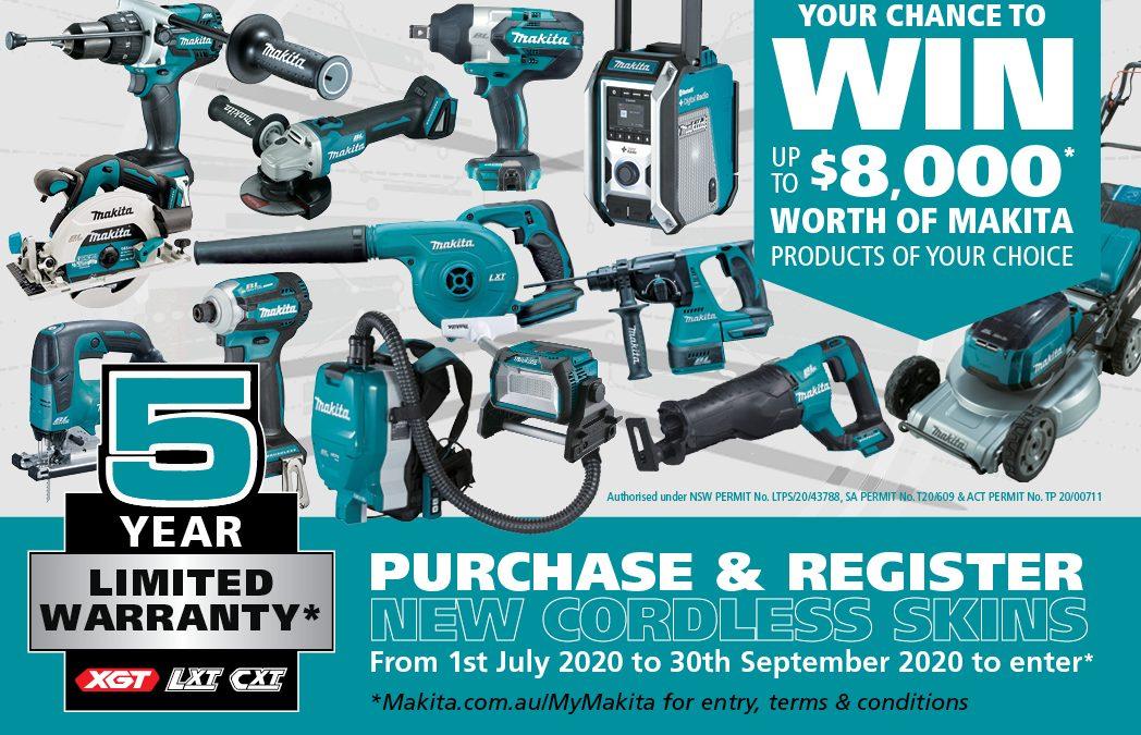 Makita New 5 Year Limited Warranty